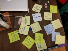 Berkman Lab- Post its